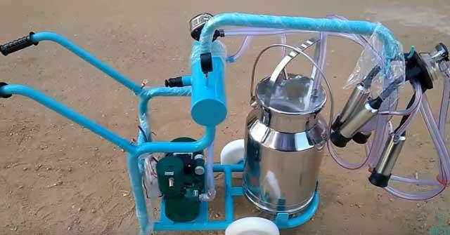 Собранный доильный агрегат
