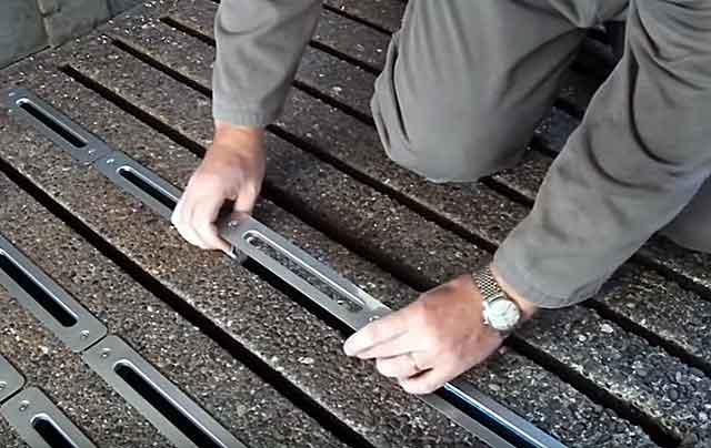 Железобетонные решетки с небольшими просветами