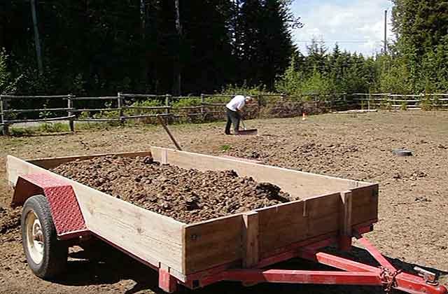 После подготовки можно и на огород